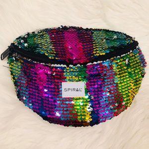 🌈 Metallic Rainbow Sequin Fanny Pack 💖
